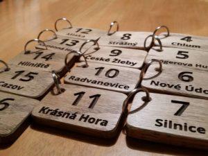 Dřevěné klíčenky